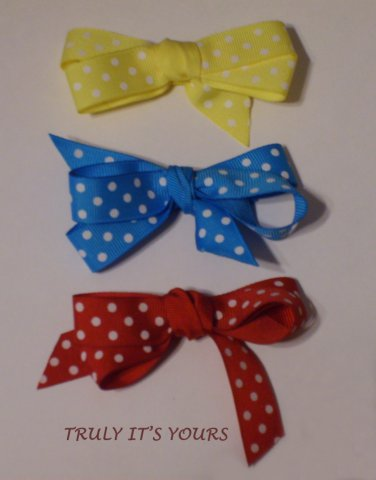 Baby Hair Bows Barrettes on Alligator Clips