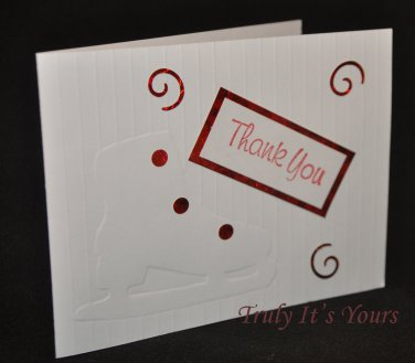 Ice Skate Thank You Cards