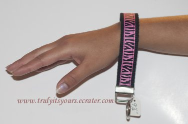 Animal Print Wrist Key Fob Key Chain
