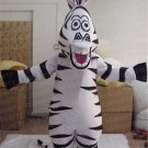 New zebra Marty Madagascar mascot costume Halloween costume fancy dress free shipping
