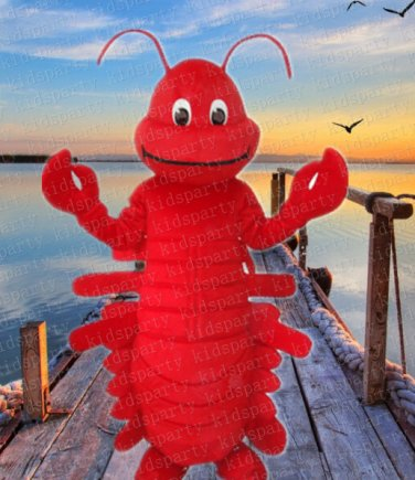 New red crabs mascot costume Halloween costume fancy dress free shipping