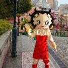 New girl mascot costume betty Halloween costume fancy dress free shipping