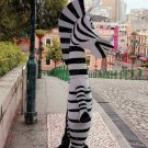 New high quality zebra mascot costume horse Halloween costume fancy dress free shipping