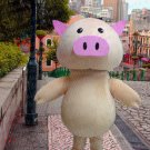New high quality pig mascot costume adult size Halloween costume fancy dress free shipping