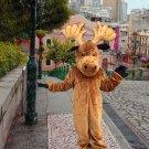 high quality mosse deer mascot costume adult size Halloween costume fancy dress free shipping