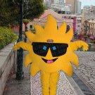 high quality mr sun mascot costume adult size Halloween costume fancy dress free shipping