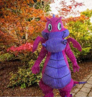 high quality purple dragon mascot costume adult size Halloween costume fancy dress free shipping