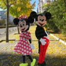 high quality 2 pc minnie mouse mascot costume adult size Halloween costume fancy dress free shipping