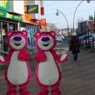 high quality pink bear mascot costume adult size Halloween costume fancy dress free shipping