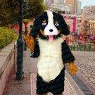 high quality long plush dog mascot costume adult size Halloween costume fancy dress free shipping