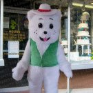 high quality white bear mascot costume adult size Halloween costume fancy dress free shipping