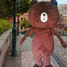 high quality brown bear mascot costume adult size Halloween costume fancy dress free shipping