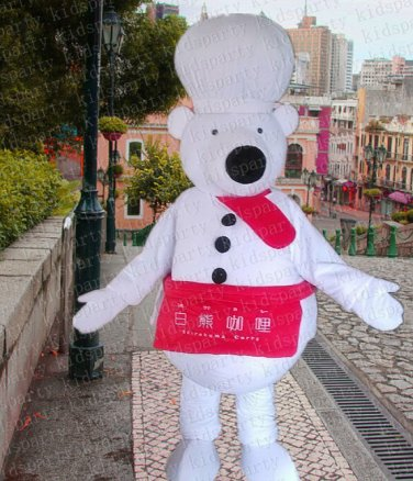 high quality cheaf bear mascot costume adult size Halloween costume fancy dress free shipping