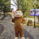 high quality curiouse monkey mascot costume adult size Halloween costume fancy dress free shipping