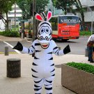 high quality zebra mascot costume adult size Halloween costume fancy dress free shipping