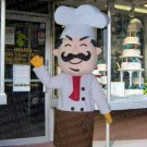 high quality cook chef mascot costume adult size Halloween costume fancy dress free shipping