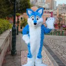 New fursuit wolf mascot costume adult size Halloween costume fancy dress free shipping