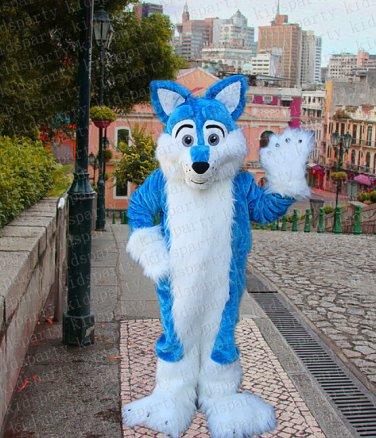 New fursuit wolf mascot costume adult size Halloween costume fancy dress free shipping