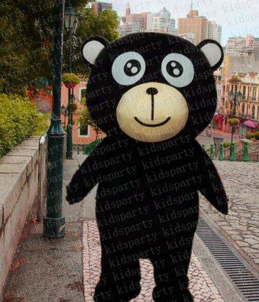 high quality black bear mascot costume adult size Halloween costume fancy dress free shipping