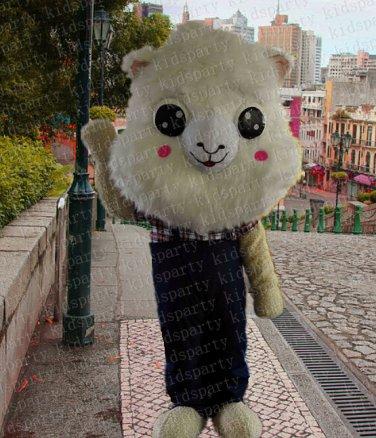 high quality sheep mascot costume alex adult size Halloween costume fancy dress free shipping