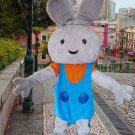 New rabbit mascot costume alex adult size Halloween costume fancy dress free shipping
