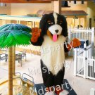 Realistic Bernese Mountain Dog Mascot Costume Adult Size Anime Costumes Carnival Fancy Dress Kits