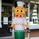 holiday cook chef cow mascot costume fancy party dress suit carnival costume fursuit mascot