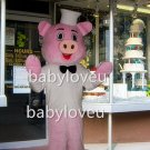 pink pig chef mascot costume fancy party dress suit carnival costume fursuit mascot