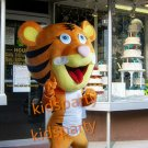 pink big head tiger mascot costume fancy party dress suit carnival costume fursuit mascot