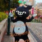 New black pig mascot costume bear fancy party dress suit carnival costume fursuit mascot