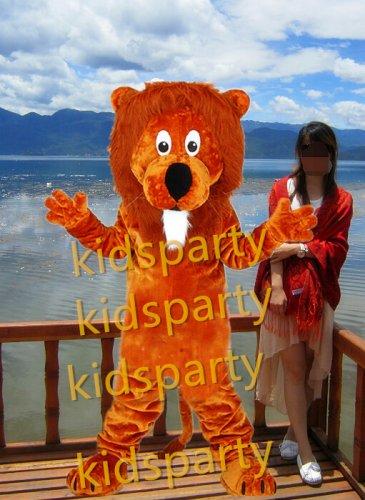 Deluxe lion mascot costume bear fancy party dress suit carnival costume fursuit mascot