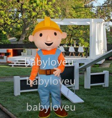 New boy builder mascot costume fancy party dress suit carnival costume fursuit mascot