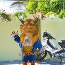 New beauty beast  mascot costume fancy party dress suit carnival costume fursuit mascot