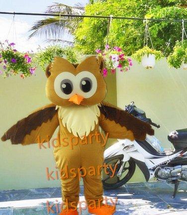 New Anime Costumes Champion Owl Mascot Costume Fancy Cartoon Character Owl Theme Mascotte Kits