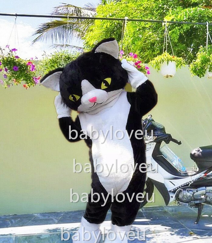 New black cat mascot costume fancy costume cosplay fancy dress carnival costume