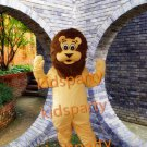 New Arrival Popular Animal Yellow Lion Plush Adult Mascot Costume for Christmas
