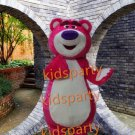 New pink bear mascot costume adult size Halloween costume fancy dress free shipping