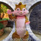 The squirrel mascot costumes for adults Christmas Halloween Outfit Fancy Dress Suit Free Shipping