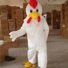 Adult Size White Chicken mascot Costume WholeSale price Cock mascot Cartoon Clothing