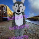 New Grey Wolf mascot costume fursuit bear fancy dress carnival costume