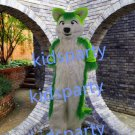 green fox fursuit mascot costume Fancy Dress wolf fursuit Halloween party costume Carnival Costume