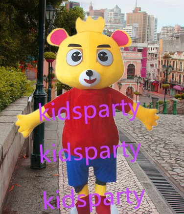 New yellow bear mascot costume Fancy Dress Halloween party costume Carnival Costume