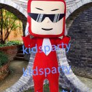 New red television mascot costume Fancy Dress Halloween party costume Carnival Costume