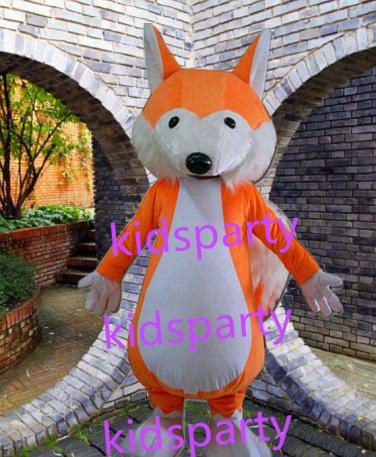 New orange fox mascot costume Fancy Dress Halloween party costume Carnival Costume