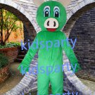 New green pig mascot costume Fancy Dress Halloween party costume Carnival Costume