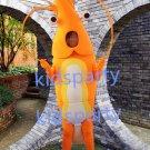 New Orange Shrimp mascot costume Fancy Dress Halloween party costume Carnival Costume