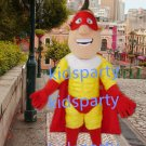 new walking disguise custom red cape muscle man mascot costumes