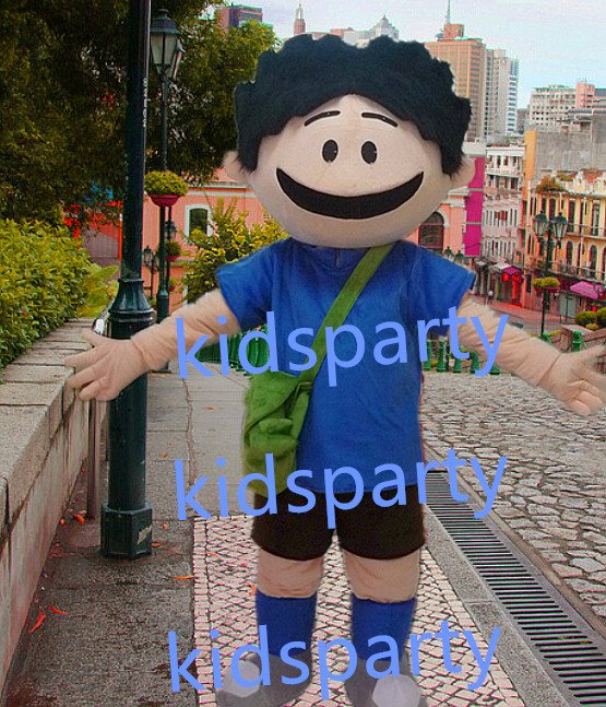 new walking disguise happy boy mascot costumes christmas Halloween costume