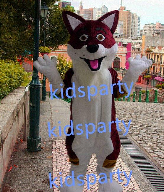 new wolf fursuit mascot costumes fox christmas Halloween costume