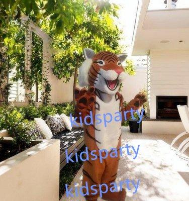 New brown tiger mascot costumes  fursuit christmas Halloween costume
